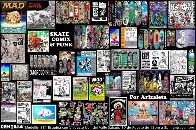 Skate Comix & Punk por Arizaleta